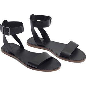 Madewell Boardwalk ankle strap sandal.